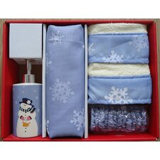 <strong>Carnation Home Fashions</strong> Let it Snow Holiday Print 16-Piece Shower Curtain Set