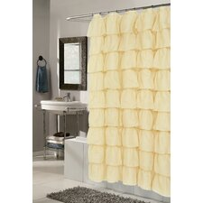 Carmen Crushed Voile Ruffle Tier Polyester Fabric Shower Curtain