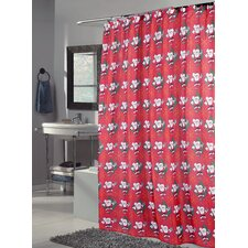 <strong>Carnation Home Fashions</strong> Santa Claus Polyester Fabric Holiday Shower Curtain