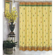 <strong>Carnation Home Fashions</strong> Winter's Break Polyester Fabric Holiday Shower Curtain