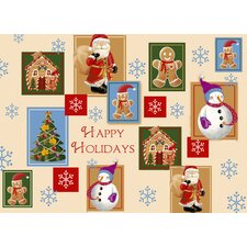 Happy Holidays Expanded Placemat (Set of 4)
