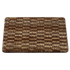 "Animal Instincts ""Cheetah"" Faux Fur Bath Mat"