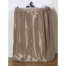"<strong>Carnation Home Fashions</strong> ""Lauren"" 100% Polyester Dobby Sink Drape with Adhesive Hanging Strip"