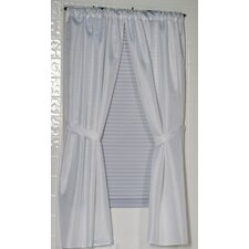 Lauren 100% Rod Pocket Curtain Panel (Set of 2)