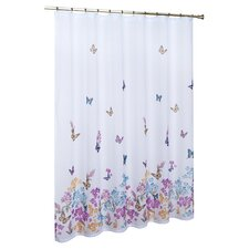 <strong>United Curtain Co.</strong> Butterfly Polyester Shower Curtain