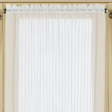 Batiste Half Rod Pocket Door Curtain Single Panel
