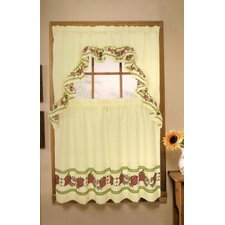 "Apple 60"" Valance and Tier Set"