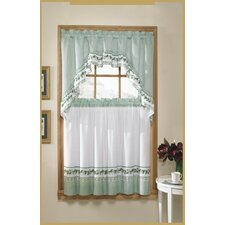 <strong>United Curtain Co.</strong> 3 Piece Valance and Tier Set