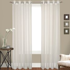 <strong>United Curtain Co.</strong> Venetian Grommet Curtain Panel (Set of 2)