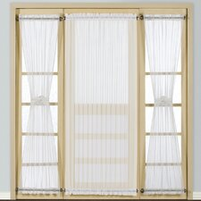 <strong>United Curtain Co.</strong> Batiste Full Door Rod Pocket Curtain Single Panel