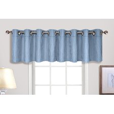 <strong>United Curtain Co.</strong> Hamden Grommet Tailored Curtain Valance