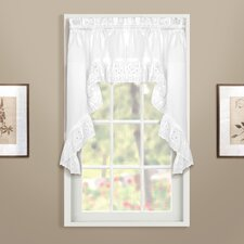 <strong>United Curtain Co.</strong> Vienna Rod Pocket Swag Curtain Valance