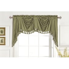 <strong>United Curtain Co.</strong> Dupioni Silk Rod Pocket Swag Curtain Valance