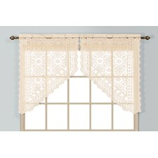 "New Rochelle 2 Piece 56"" Curtain Valance Set"