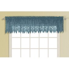 <strong>United Curtain Co.</strong> Valerie Rod Pocket Scalloped Curtain Valance