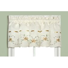 <strong>United Curtain Co.</strong> Rachael Rod Pocket Tailored Curtain Valance