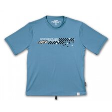 Racer Short Sleeve Water Tee in Blue