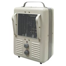 600 Watt Radiant Portable Compact Electric Milkhouse Space Heater with Thermostat