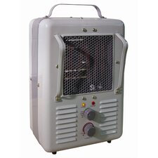 1,300 Watt Infrared Portable Compact Electric Milkhouse Space Heater with Thermostat
