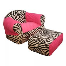 Hot Pink Zebra Kid's Club Chair