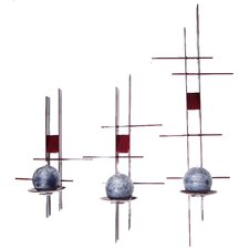 3 Piece Retro Heavy Steel Sconce Set