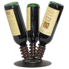 <strong>Metrotex Designs</strong> 3 Bottle Tabletop Wine Rack