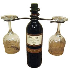 <strong>Metrotex Designs</strong> 2 Stem Holder Wine Bottle Topper
