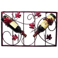 <strong>Metrotex Designs</strong> French Vineyard 2 Bottle Wall Mounted Wine Rack
