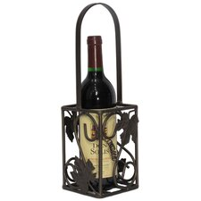 French Vineyard Grape Leaf Bottle Carrier