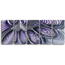 "<strong>My Art Outlet</strong> ""The Hive"" 5 Piece Handmade Metal Wall Art Set"