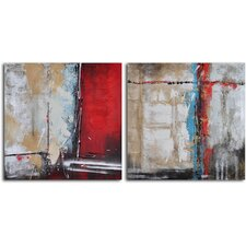 'Crossing the Threshold' 2 Piece Original Painting on Canvas Set