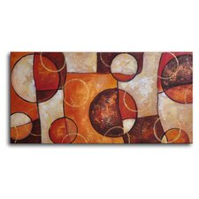 "Hand Painted ""Rustic Marble Jigsaw"" Canvas Wall Art - 16"" x 32"""