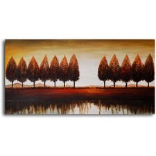 "Hand Painted ""Gap in The Trees"" Oil Canvas Art"