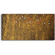 'Fall Leaves in Snow' Original Painting on Canvas