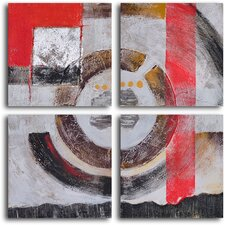 'Four Panel Loop' 4 Piece Original Painting on Canvas Set