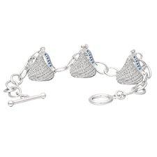 Cubic Zirconia 3D Toggle Link Bracelet