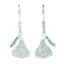 <strong>Hershey's Kiss</strong> Cubic Zirconia Lever Back Drop Earrings