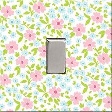Pink Emma Floral Switch Cover