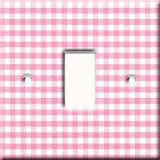 Gingham Switch Cover in Pink