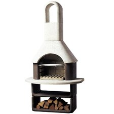 Montana Masonry Barbecue in White and Brown