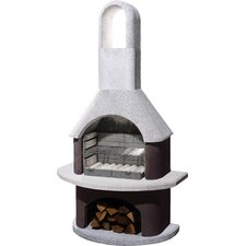 Milano Masonry Barbecue in White and Brown