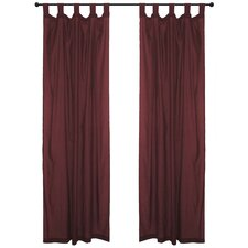 Cotton Tab Top Voile Curtain Panel Pair
