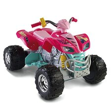 <strong>Fisher-Price</strong> Power Wheels Barbie Kawasaki KFX 12V Battery Powered  ATV