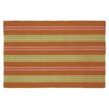 Fiesta Bittersweet Striped Indoor/Outdoor Area Rug