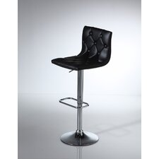 Zenith Adjustable Bar Stool with Step (Set of 2)