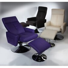 Bliss Swivel Recliner with Footstool