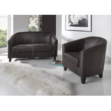Nelson Faux Leather 2 Seater Sofa