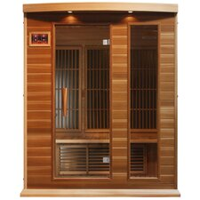 3 Person Far Infrared Carbon Cedar Sauna