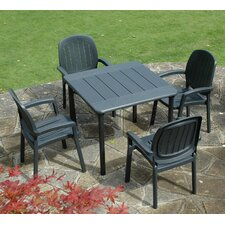Maestrale 5 Piece Square Dining Set