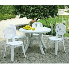 Toscana 5 Piece Round Dining Set